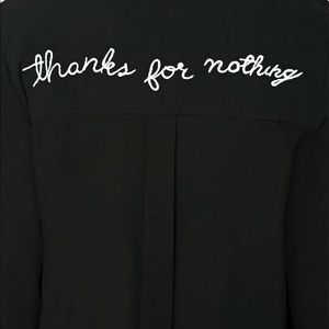 """Tops - """"thanks for nothing"""" Button Up Shirt"""